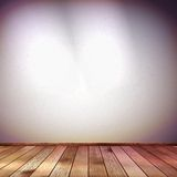 Wall with a spot illumination. EPS 10. This is editable vector illustration Royalty Free Stock Image