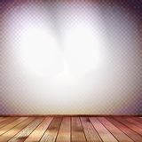 Wall with a spot illumination. EPS 10 Royalty Free Stock Images