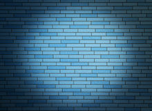Wall with spotlight. Royalty Free Stock Photography