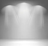 Wall with spotlight Stock Image