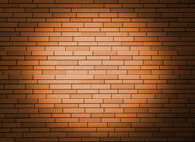 Wall with spotlight. Royalty Free Stock Image