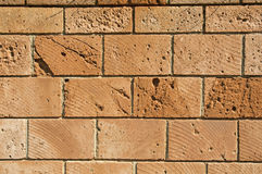 Wall of squared blocks stone Stock Photo