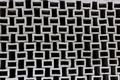 Wall of squares in black and white. a wonderful background. abstract construction and engineering thought Royalty Free Stock Images