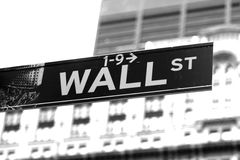 Wall St Royalty Free Stock Photo