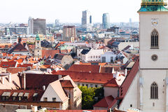 Wall of St.Martin Cathedral and Bratislava skyline Royalty Free Stock Image