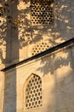 The wall of St. Sophia Church, Istanbul Turkey. The Sun rise light on the wall of St. Sophia Church,Istanbul Turkey royalty free stock images