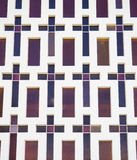 Wall of Stained Glass Crosses Stock Images