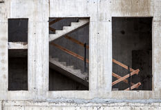 Wall and staircase of building under construction Royalty Free Stock Images