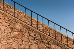 Wall with staircase stacked stone Royalty Free Stock Images
