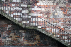 Wall with stairs Stock Photos