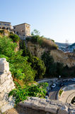 The wall of Stari Grad - old town of Ulcinj, Montenegro stock photos