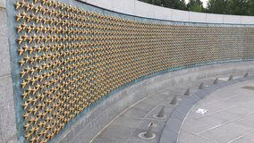 Wall of Stars. Yet another addition to the World War 2 Memorial.... May all of our stars rest in peace stock photo