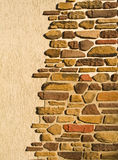 Wall and stone Royalty Free Stock Photo