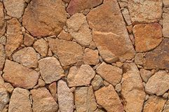 Wall of Stone. Closeup of stone wall background Royalty Free Stock Photos