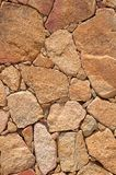 Wall of Stone. Closeup of stone wall background Stock Photography
