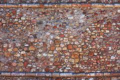 Wall of stone. A background of stones of a lighthouse wall Royalty Free Stock Images