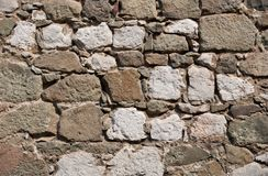 Wall from  stone blocks Royalty Free Stock Images