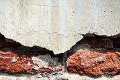 Wall, brick, cracks on old antique Venetian walls Royalty Free Stock Photos