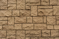 Wall of stone, brick lined symmetrically Royalty Free Stock Photography