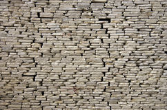 Wall of stone plates Royalty Free Stock Photo