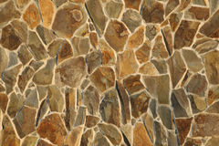 The wall of stone, Rough masonry, background Royalty Free Stock Images