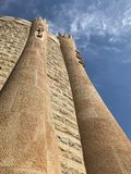 Wall of Sagrada Familia cathedral in Barcelona stock photography