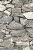 Wall with stone textures in grey Stock Photo
