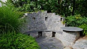 Wall, Stone Wall, Walkway, Garden stock photo