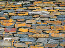 Wall from stones. In a steep vineyard Stock Photography