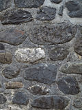 Wall of Stones. Robust Stones Wall of a house in Canfranc (Huesca) Spain Royalty Free Stock Photos