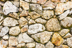 Wall of stones as a texture. Surface texture of stone wall decoration, randomize stones good texture Stock Photo