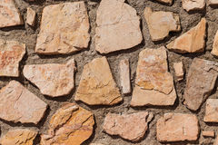 Wall of stones as a texture Royalty Free Stock Images