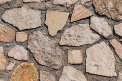 Wall of stones as a texture Royalty Free Stock Image