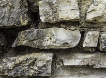 Wall of stones. Different size. Different form. Background. Texture. Royalty Free Stock Images