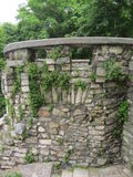 Wall of stones with ivy. Stone wall with ivy in the city of Pyatigorsk Stock Photography