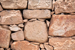 Wall of stones in Malta Royalty Free Stock Image