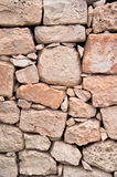 Wall of stones in Malta Royalty Free Stock Photography