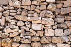 Wall of stones in Malta Stock Photos