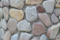 Wall with stones Royalty Free Stock Photography