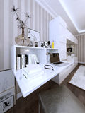 Wall storage and bookcase in modern style Stock Photo