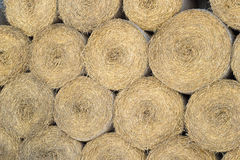 Wall of straw Stock Images