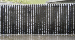 Wall of Streaming Water. Stock Photo