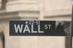 Wall Stree. Street sign from Wall Street in New York Royalty Free Stock Images