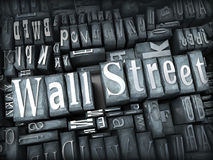 Wall Street Fotografía de archivo libre de regalías