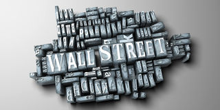 Wall Street. The words Wall Street written in print letter cases royalty free illustration