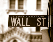 Wall Street Foto de Stock Royalty Free