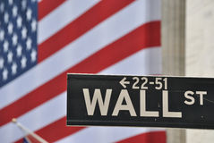 Wall Street stock afbeelding