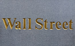 Wall Street Royalty-vrije Stock Foto's