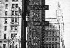 Wall Street imagen de archivo libre de regalías