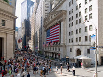 Wall Street Royalty-vrije Stock Foto's